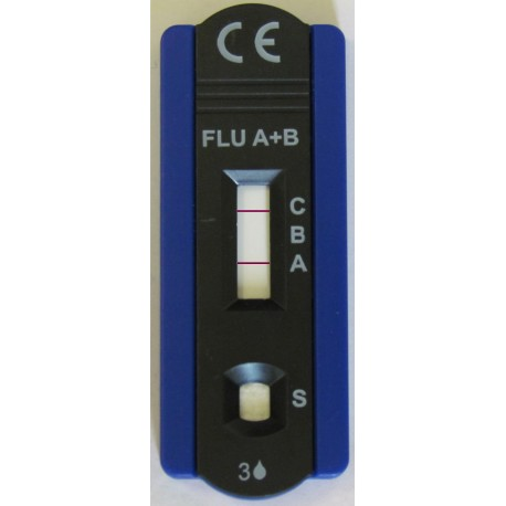 KIT GRIPPE INFLUENZA A ET B SEPARES 10 TESTS 4A470